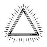 Onmogelijk oneindig driehoekscijfer stock illustratie