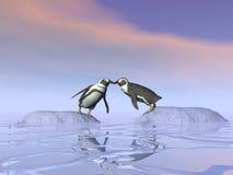 Onmogelijke 3D kus - geef terug Stock Fotografie