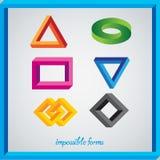 Onmogelijke cijfers Onmogelijk Embleem Multicolored onmogelijke cijfers in onmogelijk kader stock illustratie