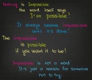 Onmogelijke citaten stock afbeeldingen
