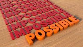Onmogelijke en mogelijke tekst Stock Afbeeldingen