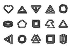 Onmogelijke geplaatste vormen vector illustratie