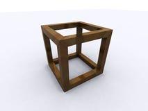 Onmogelijke kubus Royalty-vrije Stock Afbeeldingen