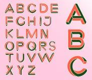 Onmogelijke Meetkundebrieven Onmogelijke vormdoopvont Lage poly 3d karakters Royalty-vrije Stock Foto