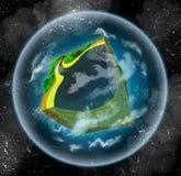 Onmogelijke vreemde planeet stock illustratie