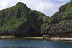 Onna Maeda cape of blue cave entrance. Okinawa Prefecture Onna Maeda cape of blue cave entrance Stock Photo