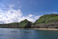 Onna Maeda cape of blue cave entrance Royalty Free Stock Images