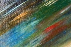 Onnauwkeurige donkere vlekken van de kleur van de waterverfverf op canvas Royalty-vrije Stock Foto's
