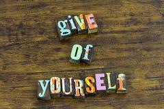 Ono daje otrzymywa pomoc miła dobroczynności wiary dobroć obraz stock