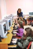 Ono edukacja z dziećmi w szkole obraz stock
