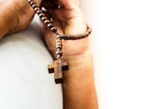 Ono modli się bóg Fotografia Stock
