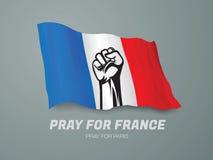 Ono modli się dla Francja Zdjęcia Stock