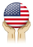 Ono modli się Dla Stany Zjednoczone Ameryka ilustracja Zdjęcie Stock