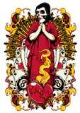 Ono modli się dla szczęścia royalty ilustracja