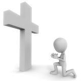 Ono modli się dla wiary royalty ilustracja