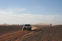 Ono potyka się Libia, pustynny safari w Murzuk Obraz Stock