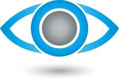 Ono przygląda się, oko cyfrowy, oko lekarki logo Obrazy Royalty Free
