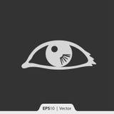 Ono przygląda się z odbicie ikoną dla sieci i wiszącej ozdoby Obrazy Stock