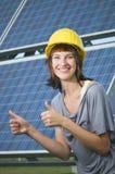 Ono uśmiecha się dla photovoltaics Obrazy Royalty Free