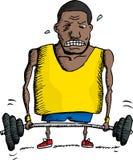 Ono zmaga się Weightlifter Fotografia Stock
