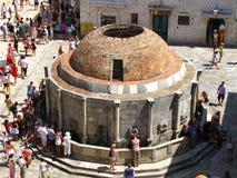 Onofrio fontanna - główny plac w Dubrovnic Chorwacja Obraz Royalty Free