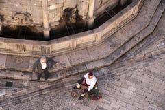 Onofrio Fountain i den Walled staden av Dubrovnic i Kroatien Europa Dubrovnik ge någon ett smeknamn `-pärlan av Adriatiska havet Arkivbild