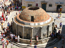 Onofrio's fountain - The central square in Dubrovnic Croatia Royalty Free Stock Image
