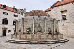 Onofrio's Fountain in Dubrovnik. Onofrio's Fountain is one of the ancient fountains of Dubrovnik, Croatia Stock Photos