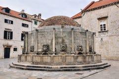 Onofrio's Fountain in Dubrovnik Stock Photos