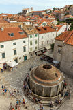Onofrio's Fountain at the Dubrovnik's Old Town Stock Photography
