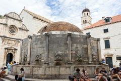 Onofrio's Fountain at the Dubrovnik's Old Town Royalty Free Stock Image