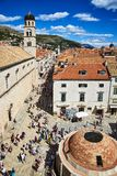 Onofrio`s Fountain and Franciscan Monastery, Dubrovnik Stock Images