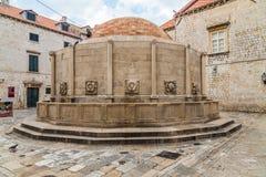 Onofrio' фонтан s большой, городок Дубровника старый Стоковое Изображение RF