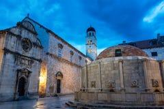Onofrios springbrunn i Dubrovnik, Kroatien royaltyfri foto