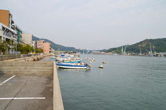 Onomichi的日本港口 免版税库存图片