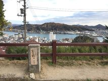 Sketching place of famous painter, Onomichi, Hiroshima, Japan royalty free stock images
