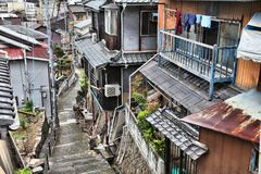 Onomichi, Japan. Town in the region of Chugoku. Old town street royalty free stock images