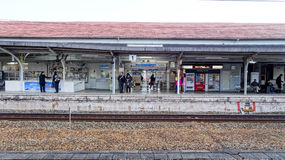 Onomichi Train Station. Elevation View of Onomichi Train Station in Japan Stock Images