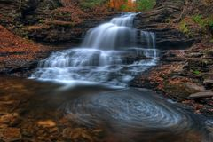 Onondaga Falls, Ricketts Glen State Park Stock Photos