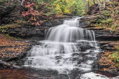 Onondaga Falls at Ricketts Glen Stock Images