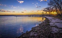 Onondaga jezioro, park, Nowy Jork Obraz Stock