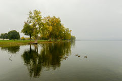 Onondaga Lake and Park Royalty Free Stock Photo