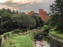 Onondaga-Nebenfluss, Syrakus, NY stockfotografie