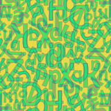 Ononderbroken brievenpatroon Stock Afbeelding