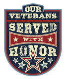 Onorare i veterani Fotografie Stock