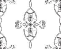Onraments aleatórios do laço do Arabesque Ilustração do Vetor