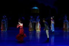 Onrechtvaardigheid-vier handeling ` belemmerde inklaring ` - Epische de Zijdeprinses ` van het dansdrama ` stock afbeelding