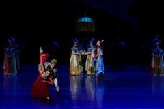 Onrechtvaardigheid-vier handeling ` belemmerde inklaring ` - Epische de Zijdeprinses ` van het dansdrama ` stock foto's