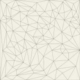 Onregelmatig abstract lineair net Zwart-wit textuurpatroon met een netvormig patroon vector illustratie