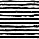 Onregelmatig gestreept kwaststrekenpatroon Naadloze hand getrokken geschilderde lijnen royalty-vrije illustratie